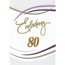 Suchergebnis Auf Amazon De Fur Einladungskarten 80 Geburtstag