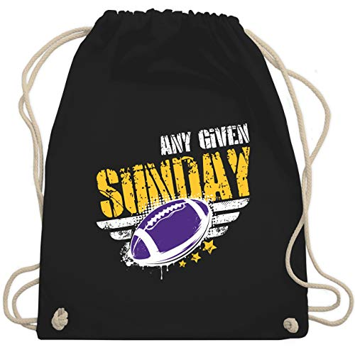 American Football - Any Given Sunday Football Minnesota - Unisize - Schwarz - WM110 - Turnbeutel & Gym Bag
