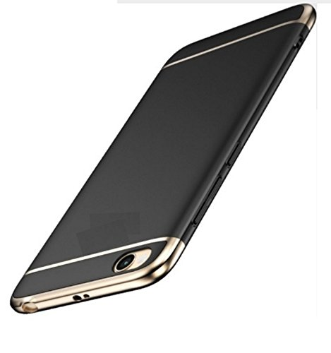 Für Xiaomi Redmi 5Panel 5.0Rückseite Schale Abdeckung Stoßfest Hartschale Rahmen Beschichtung Gold Gold Handy Cover Case Ultra Dünn Ultra Leicht Slim Ultra Clear Panel Lcd