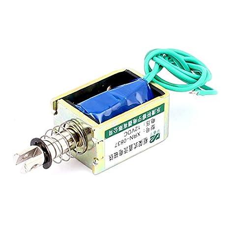 Sourcingmap A15122500ux033310mm 12V DC 20N Xrn-0837Push Pull actionneur Électroaimant solénoïde–Bleu/bronze/argenté/vert