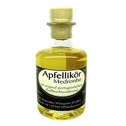 LASOVLI Apfellikör Medronho ohne Zuckerzusatz, nur mit Erythrit gesüßt, 20,5% vol (0.2 l)