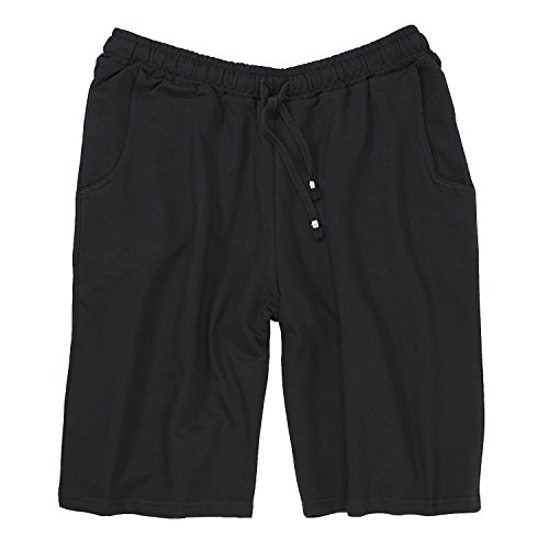 Redfield Schwarze kurze Jogginghose Übergrösse bis 10XL, Größe:6XL