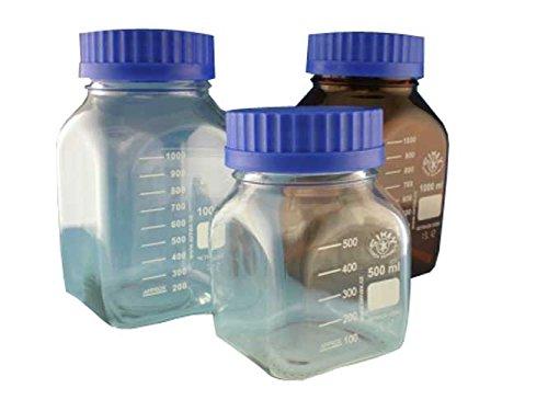 Simax 2080/H/1000 GL80 Media Bottle, 1000 mL, Amber (Pack of 10) (Borosilikatglas Amber)