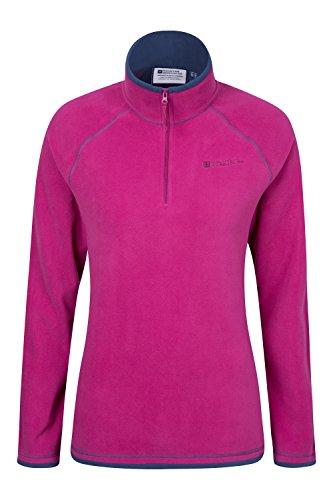 mountain-warehouse-montana-womens-walking-hiking-half-zip-microfleece-micro-fleece-berry-12