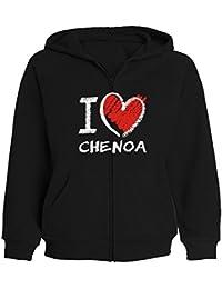 Idakoos I love Chenoa chalk style - Nombres Femenino - Sudadera con cremallera mujer