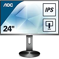 "AOC Monitores I2490PXQU/BT - Monitor de 23.8"" (resolución 1920 x 1080 pixels, tecnología WLED, HDMI, DisplayPort, 4 ms, USB 3.0, regulable en altura), color negro"