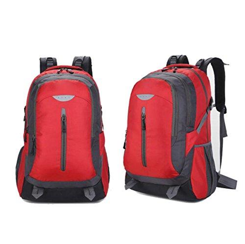 Esterno Doppio Spalla Backpacking Bag Viaggi Escursioni Casual Walking Nylon Shoulder Bag,Red Red