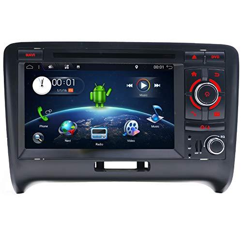 YUNTX en Dash Autoradio avec système de Navigation GPS pour Audi TT 2006–2011, 2 DIN véhicule Autoradio avec Android 18 cm écran capacitif Muti-Touch