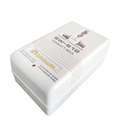 Alician Reise-Spannungswandler, Dual-Trafo 110 V auf 220 V / 220 V auf 110 V Stecker, 2 Pins Typ A, US/China 100 W -
