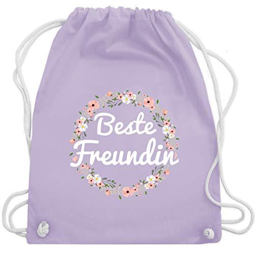 Partner-Look Freundinnen - Beste Freundin Blumenkranz - Unisize - Pastell Lila - WM110 - Turnbeutel & Gym Bag