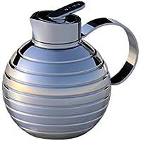 XTRA Coffee Tea Pot, Stainless steel, Double wall, Vacuum bottle, Jug, Model Wave, 1.2 liter, dishwasher proof