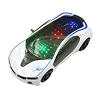 3D Supercar,Ewendy Style- Electric Toy With Wheel Lights&Music -Kids Boys Girls Gift