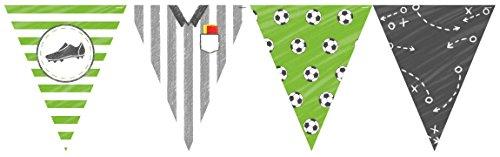 4m Wimpelkette * FUSSBALL-STADION * aus Papier als Deko für WM 2018-Party oder Kindergeburtstag // EM Party Mottoparty Geburtstag Soccer DIY