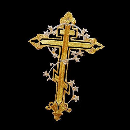 Kicode Heiß Kreuz / Kruzifix Bestickt Nähen Sie auf Eisen auf Stick Flicken Abzeichen Stoff-Beutel-Kleidung-Hut Kleid