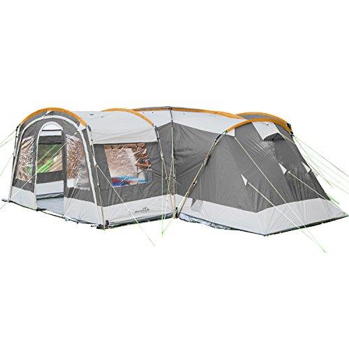SKANDIKA Nimbus 12-Tente familiale Personnes-3 cabines-630 x 760 cm-Colonne d'eau...