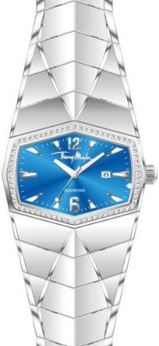 Thierry Mugler 4701801 - Reloj analógico de cuarzo unisex con correa de acero inoxidable, color plateado
