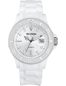 Weiße RE:CRON Unisex Armbanduhr Analog Uhr // verschiedene Farben wählbar