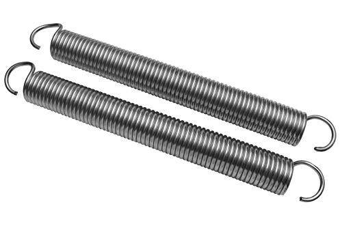 2x Universal Garagentor Feder 98kp / 118kp Garagentorfedern Garage Zugfeder Paar (Eisen verzinkt, 5x43x430)