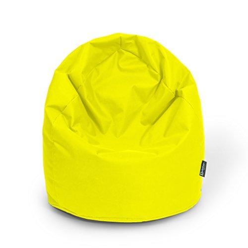 Sitzsack XL gelb mit Füllung BeanBag Sitzkissen Bodenkissen Kissen Sessel