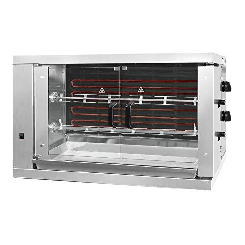 Elektro Hähnchengrill ECO mit 2 Spießen für 12 Hähnchen - 1098 x 480 x 640 mm | Drehgrill | Bratengrill | Rotisserie | Spießbratengrill | Gastro
