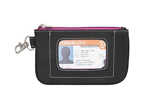 travelon-damen-daisy-rfid-blockierender-fall-brieftasche-gr-one-size-black-with-pink-interior