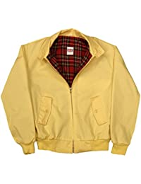 Harrington Jacket with Tartan Lining - Yellow
