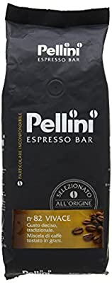 Pellini Number 82 Vivace Roasted Coffee Beans 500 g (Pack of 2)