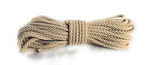 Viva Nature Polypropylen Seil\ PP Seil \ 6 mm Flechtleine Polypropylenseil Tau Festmacher Schnur Tauwerk Universalseil (beige, 10 Meter)
