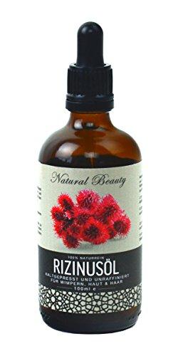 Rizinusöl von NaBeauty 100ml, 100% Naturrein Castor Oil für Haut Haar und Wimpern