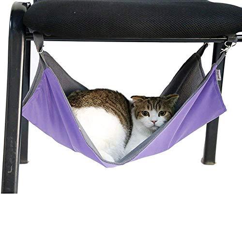 WENTS Hängematte für Katzen, wasserdicht, Oxford-Gewebe, Bett für den Käfig, Schlafplatz für Kleintiere - 2-in-1: für Sommer & Winter - einfach am Käfig zu befestigen