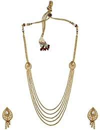 Anuradha Art Golden Finish Simple & Stylish Designer Necklace Set For Women/Girls