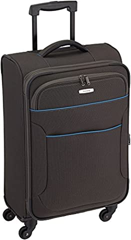 Travelite Derby Valise Trolley avec 4 Roues, 67 cm, 62 L, Anthracite