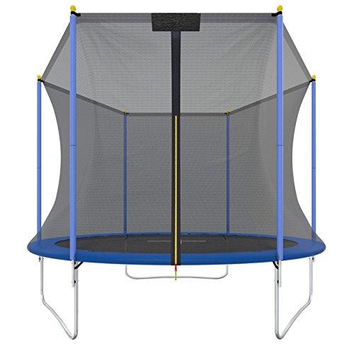 Trampolin.one by Ultrasport Outdoor Trampolin Promo, Kindertrampolin, Gartentrampolin Komplettset inklusive Sprungmatte, Sicherheitsnetz und Randabdeckung, blau, 305 cm