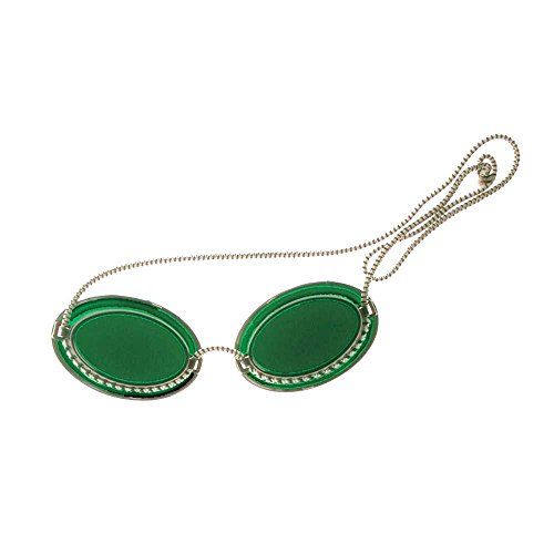 1x Behrend Höhensonnenbrille, UV-Brille, Solariumbrille, UV-Augenschutz, grün, Universalgröße