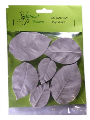 Sugarcraft Leaf Veiner - Tea Rose Leaf Set of 3 - Flowers for Celebration and Wedding Cake Decoration