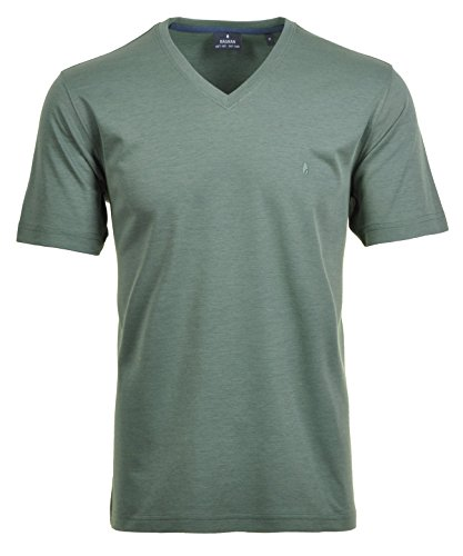 RAGMAN Herren RAGMAN T-Shirt Softknit uni, Pflegeleicht Türkis/grün-341
