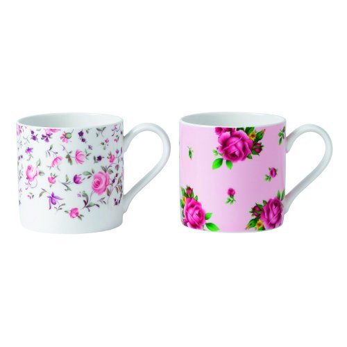 Royal Albert Rose Confetti/Nouvel Roses Tasses, Rose, Lot de 2 par Royal Doulton