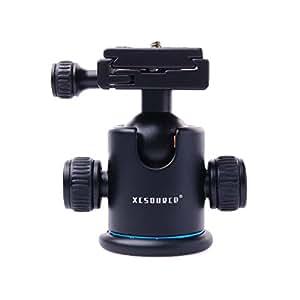 KS-0 Tripod Ball Head Ballhead + Quick Release Plate Small Compass for Professional Camera Tripod Camcorder DSLR Canon 700D 650D 600D 1100D 6D LF23