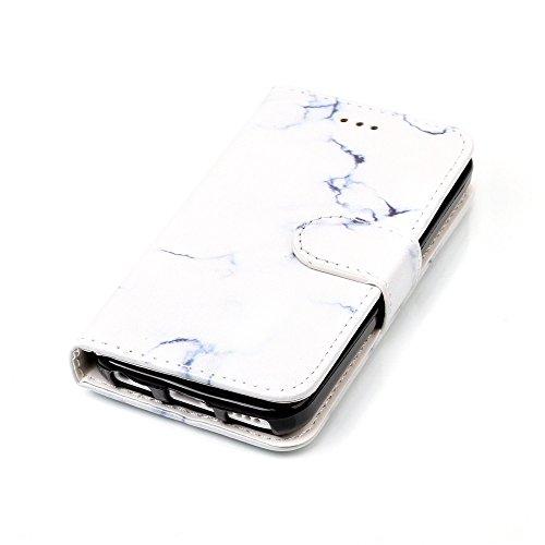 """MOONCASE iPhone 5c Hülle, [Colorful Pattern] Stoßfest Ganzkörper Schutzhülle mit Ständer Leder Handytasche Case für iPhone 5c 4.0"""" Rose Gold White"""