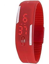 Snapcrowd Digital Pink Color Silicone Digital LED Band Wrist Watch For Boys, Girls, Men, Women - B07H7DBKVN
