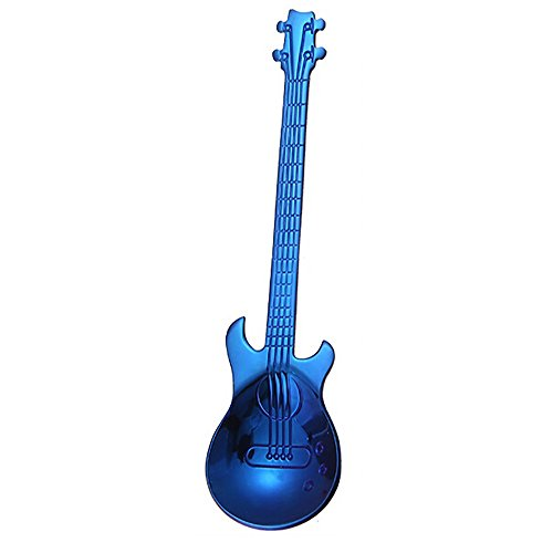 TAOtTAO Edelstahl-Gitarren-Löffel-Regenbogen-Kaffee-Tee-Löffel-Besteck-trinkende Werkzeuge (B) - Gitarre Kleinkind Tee