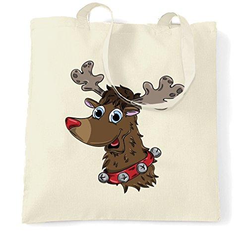 Weihnachten Tragetasche Netter Rudolf The Reindeer Charakter Natural One Size