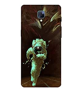 Takkloo painting of antronaut white dress,man in space, nice painting, super hero) Printed Designer Back Case Cover for OnePlus 3 :: OnePlus Three :: One Plus 3