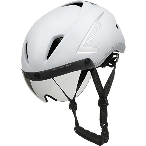 Base Camp Cycling Fahrradhelm mit Abnehmbarem Visier - CPSC Safety Certified, Verstellbare M L Größe 22-24 Zoll