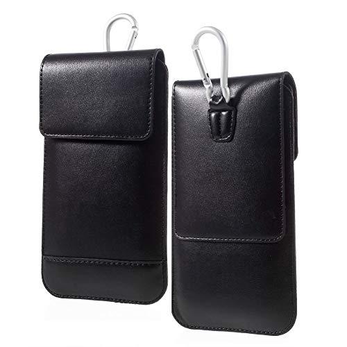 DFV mobile - Gürtel-Fall-Abdeckung Etui Hülle Vertikale mit Doppeltasche für => Oppo R1L R8006 (2014) > Schwarz
