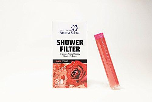3 X Cartouches de recharge de parfum Rose ASS (authentique), la vitamine C, filtre pour Sense Arôme pomme de douche (pour As-prestige, As-501, As-9000 et As-701)