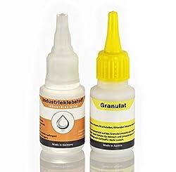 Extra starker Industriekleber mit Granulat, die Klebstoff-Schweißnaht - Superkleber, Der Alleskleber ist wasserfest und hitzebeständig