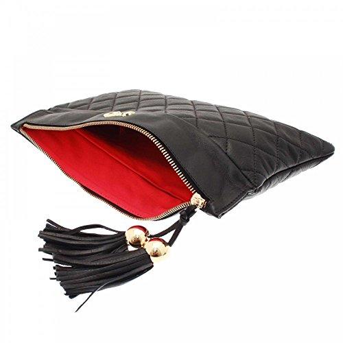 Cats Women's Long Quilted Clutch Handbag Black