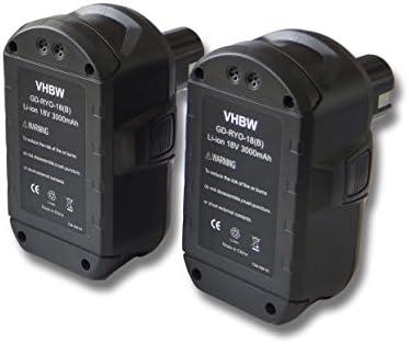 Offerta risparmio 2 x Batteria Batteria Batteria vhbw Li-Ion 3000mAh (18V) per Ryobi CRA-180M, CRH1801, CRO-180M, CRP-1801, CRP-1801, DM, CRP-1801D, CRS 1803. | riduzione del prezzo  | Outlet Online  | Prezzo Pazzesco  b09b2f