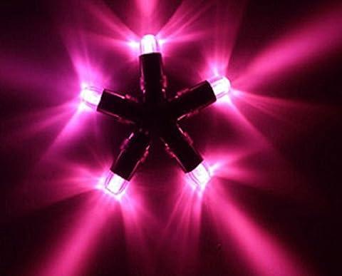 E-lited Mini-LED-Leuchten, wasserdicht, tauchfähig, für Party, Hochzeit, für Vasen, Schalen, Ballons und Laternen, Rosa, 10Stück